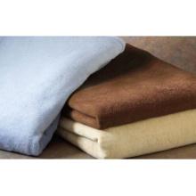 Rectangle de flanelle en couleur unie pour couverture d'air / canapé / lit