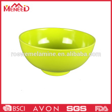 Solid color melamine family daily use rice bowl