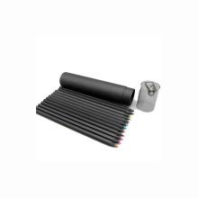 Crayon de couleur en bois noir logo personnalisé avec taille-crayon