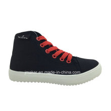 China Wholesale Children High Top Canvas Shoes (C432-B)