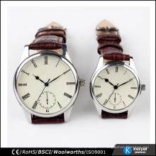 Reloj de cuero genuino de la alta calidad para los hombres y las mujeres