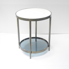 Meja kopi Marble Round With Double-Desk