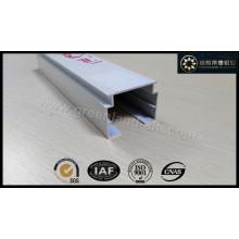 Trilho de cabeça cega vertical feito de perfil de alumínio com altura de 32 mm branco