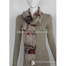 Lã mercerizada lã de flores tingida lenços xale roubou