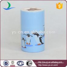 YSb40092-02-th Suporte de escova de cerâmica de estilo clássico com design de grãos