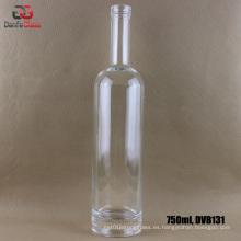 Botella de vidrio blanco extra de 750 ml con acabado Bartop