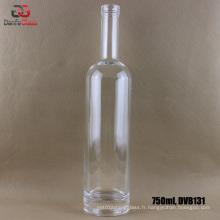 Bouteille en verre extra blanche de 750 ml avec finition Bartop