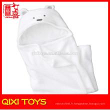 100% coton couverture de bébé plaine blanc coton bébé couvertures
