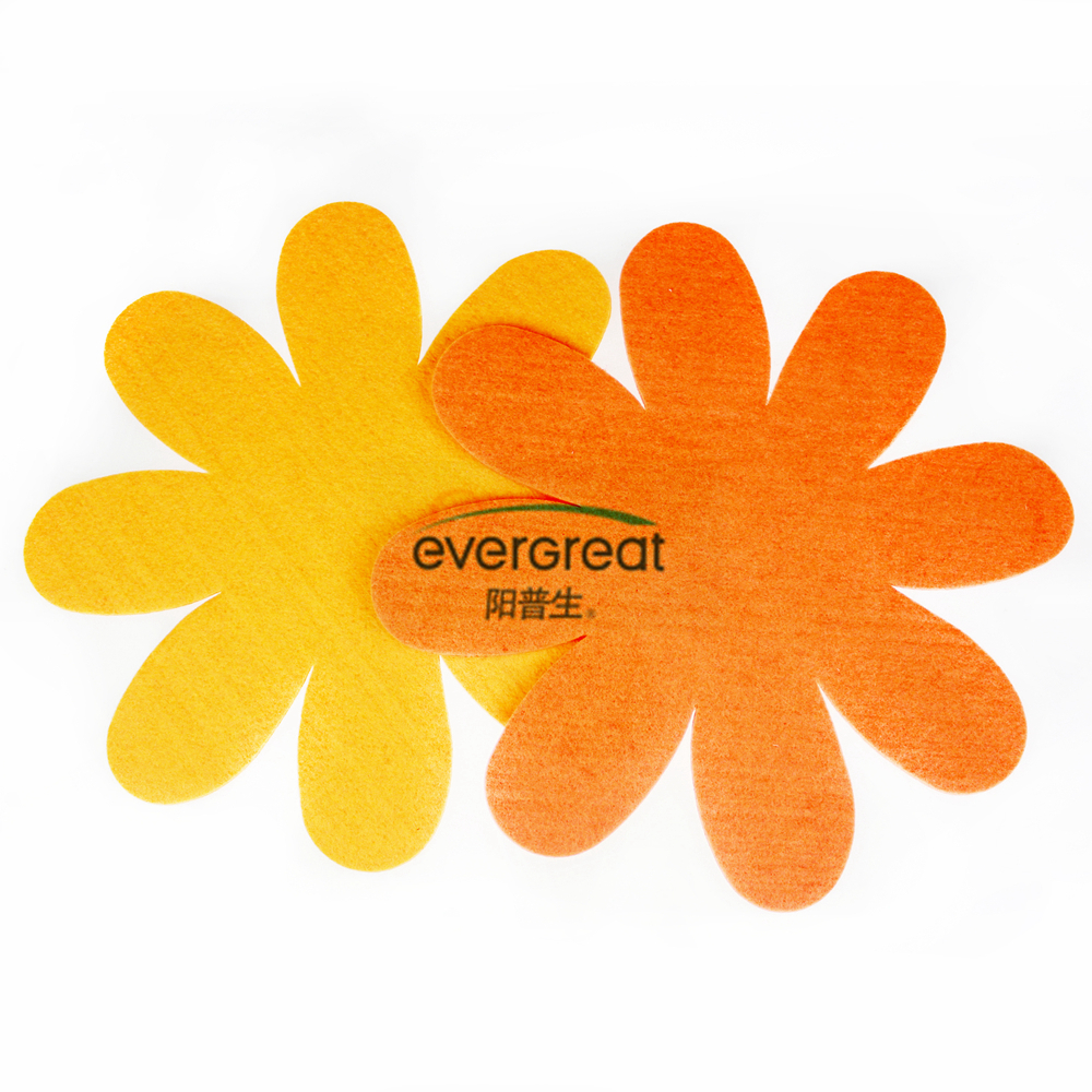 Mega felt flower shape sheet decoration