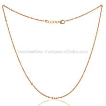 18k золото покрытием Латунь цепь в 20-дюймовый Длина красивого подарка для нее или него