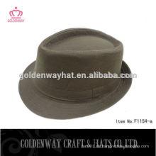 Günstige Blank Brown Fedora Hut für Männer