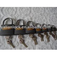 Grey iron padlock