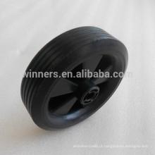Roda pequena plástica de 4.5 polegadas / roda do carro / roda de borracha contínua