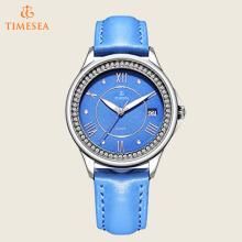 Moda Diamomd aço relógio de pulso senhoras com alça azul 71172