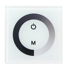 Atenuador del panel táctil Controlador sensible al interruptor montado en la pared para una sola tira de LED de color