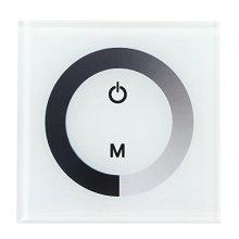 Interruptor fixado na parede do interruptor do interruptor do painel de toque controlador sensível para a única luz de tira do diodo emissor de luz da cor
