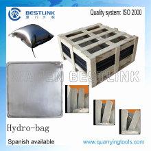 Bloquear a divisão aço bolsa de água para empurrar blocos