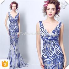 Nach Maß voller Länge elegante blaue süße Herz-Fischschwanz Bodycon Kleid-Meerjungfrau-lange Abend-Kleider