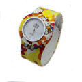 Full colorful printed products silicone slap wristwatches