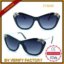 2015-modische Sonnenbrille Sonnenbrille mit Dekoration (F15045)