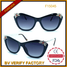 Sunglasses 2015 Fashionable Sunglasses with Decoration (F15045)