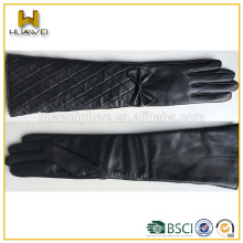 Women Long Leather Gloves Fall Winter Fashion Gloves