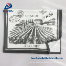 Wholesale alibaba custom printed linen tea towel waffle printed dish towels cotton waffle weave pique kitchen tea towels