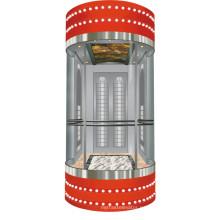 Uso de ascensor residencial Ascensor panorámico con sala de máquinas pequeñas