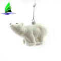 glass polar bear ornaments for Christmas tree decorations