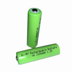 NiMH AA Rechargeable Batteries with High Capacity of 2,600mAh