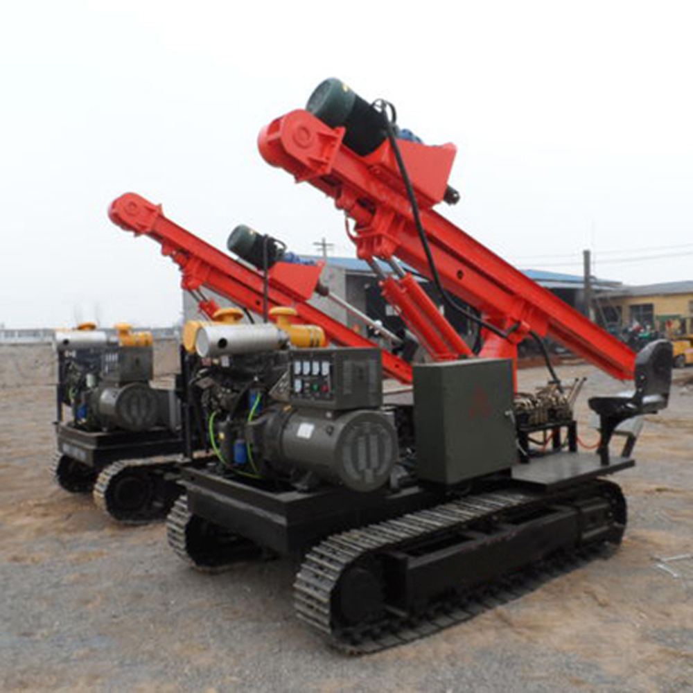 Solar Pile Driving Machine
