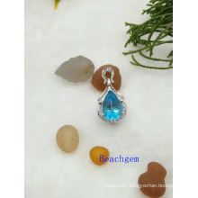 Jewelry-Topaz Sterling Silver Pendant (P908916)