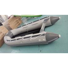 Barco inflable del PVC de 0,9 mm del diseño del pozo del barco del piso de aluminio 2016