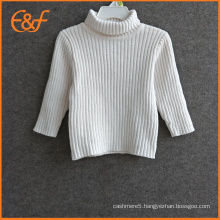 Baby Girls White Turtle Neck Sweater For Winter