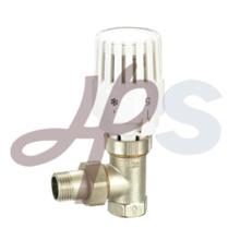 latón termostático válvula de radiador ángulo de tipo