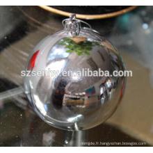 2017 Boule de Noël en plastique brillant pour la décoration