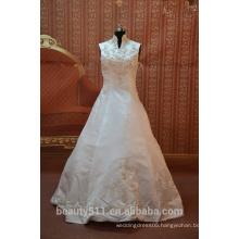 IN STOCK Muslim wedding dress sleeveless High neck bridal dresses SW48