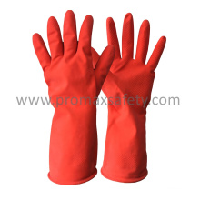 DIP Flocked Red Household Latex Glove