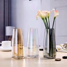 Modern Colorful Crystal Glass Vases for Home Decoration