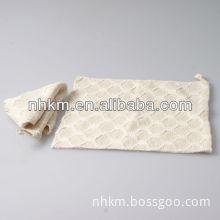 Square shape bath towel terry bath scrubber towel