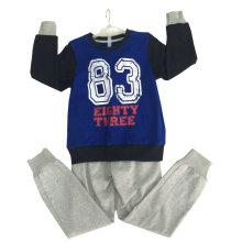 Мода французской махровой детской одежды на открытом воздухе спортивная одежда Hoodie костюм для мальчика Swb-101