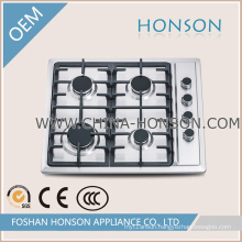 Gas Hob Gas Stove Cooktop Stainless Steel 4 Sabaf Burners