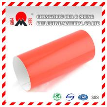 Grado ingeniería rojo reflectante láminas de vinilo para tráfico signos señales de advertencia (TM7600)