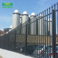 3m height powder coated steel triple pointed palisade