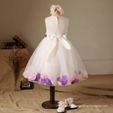 robes de pétale rose pourpre robes de fête d'anniversaire noël 2017 BABY GIRLS nouveaux styles vêtements de mariage fleur filles