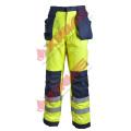 Pantalon résistant à la flamme haute visibilité avec ruban réfléchissant