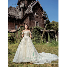 Shiny lace wedding ball gowns real pictures of beautiful wedding gowns modern nice wedding dresses China