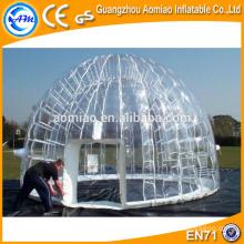 Camping gonflable sur mesure à base de bulles à cristaux liquides, vente de tente de douche gonflable
