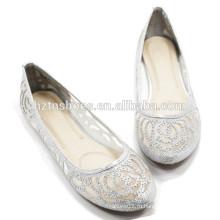 Женская дешевая повседневная обувь оптом Mesh верхняя плоская рабочая обувь