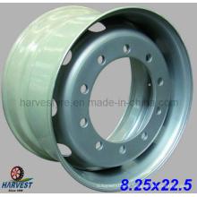 Ruedas de acero para neumáticos de camión sin cámara 8.25X22.5